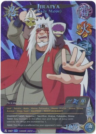 jiraiya sage mode eminent sage 1067 alternate art card
