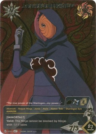 Madara Uchiha Very rare! To Obtain the Ultimate Power Naruto TCG//CCG - NM