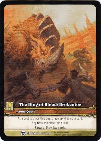 The Ring of Blood: Brokentoe - Extended Art EA - Gladiators 195/208