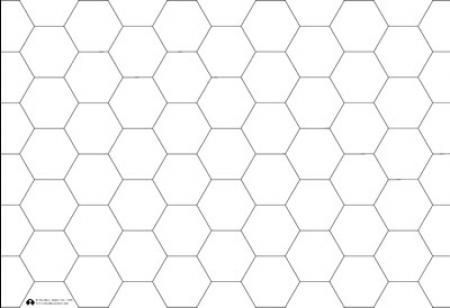 Victory Blank Hex Map 1 Columbia Games Col3556 Board