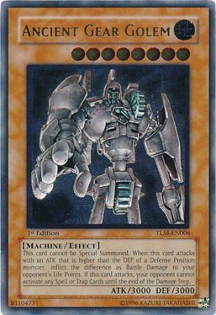 Ultimate Rare - Ancient Gear Golem - TLM-EN006 - The Lost Millennium [TLM]  Singles - Yugioh