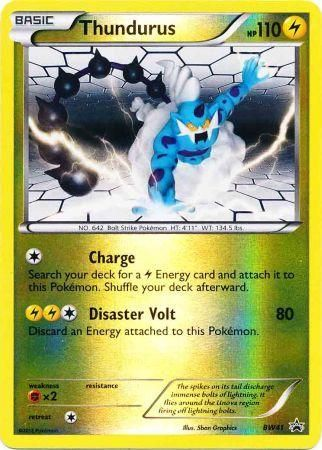 POKEMON BLACK /& WHITE THUNDURUS BW41 REV HOLO