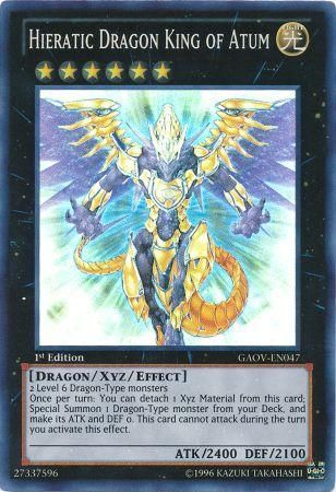 Hieratic Dragon King of Atum - GAOV-EN047 - Super Rare 1st Edition -  Galactic Overlord 1st Edition Singles - Yugioh