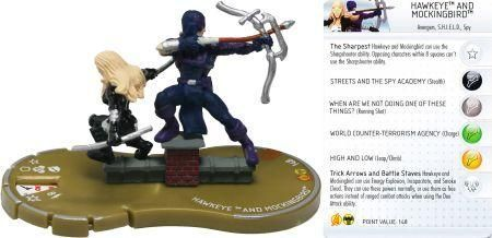 Hawkeye And Mockingbird 054 Marvel Chaos War Heroclix