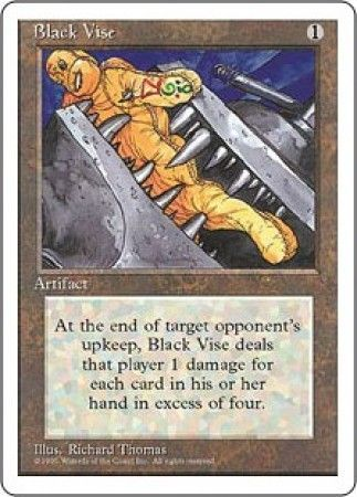 black vise mtg 4th edition magic cards singles magic the gathering