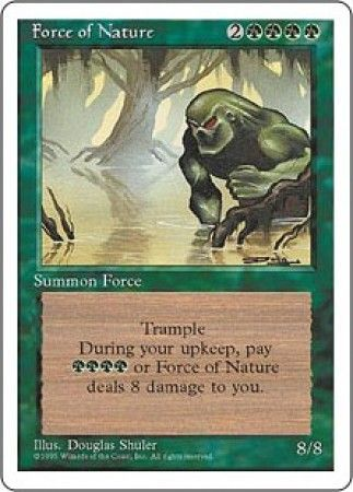 force of nature mtg 4th edition magic cards singles magic the