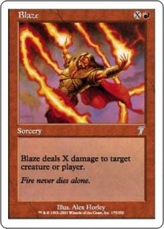blaze mtg 7th edition singles magic the gathering