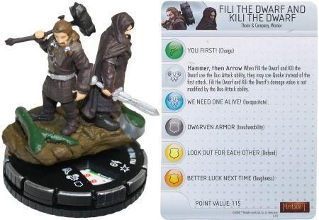 Fili The Dwarf And Kili The Dwarf 60 Chase Rare Hobbit Heroclix Custom I Need U By Fili
