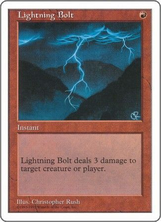 lightning bolt anthologies singles magic the gathering