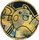 Pokemon Raichu Collectible Coin Gold Pixel Holofoil