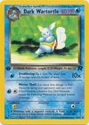 Dark Wartortle 46 82 Uncommon 1st Edition
