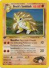 Brock s Sandslash 23 132 Rare 1st Edition