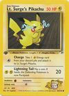 Lt Surge s Pikachu 81 132 Common 1st Edition
