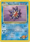 Misty s Starmie 56 132 Uncommon 1st Edition