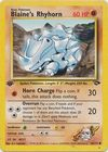 Blaine s Rhyhorn 65 132 Common 1st Edition