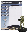Battle Droid 29 Clone Strike Star Wars Miniatures Common
